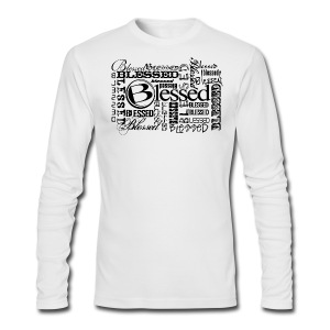 Men's Blessed Multi3 - Light - Men's Long Sleeve T-Shirt by Next Level