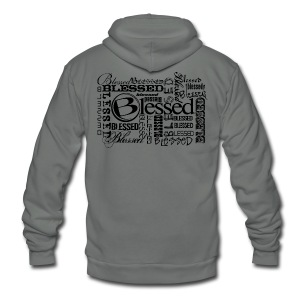 Men's Blessed Multi3 - Light - Unisex Fleece Zip Hoodie by American Apparel