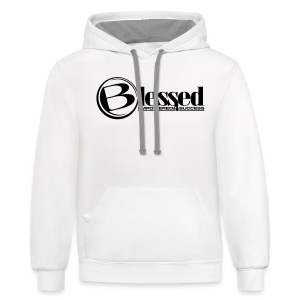 Mens Blessed Circle - Light - Contrast Hoodie