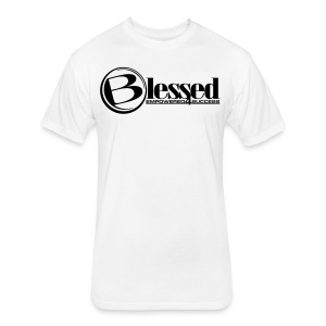 Mens Blessed Circle - Light - Fitted Cotton/Poly T-Shirt by Next Level