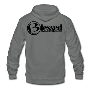 Mens Blessed Circle - Light - Unisex Fleece Zip Hoodie by American Apparel