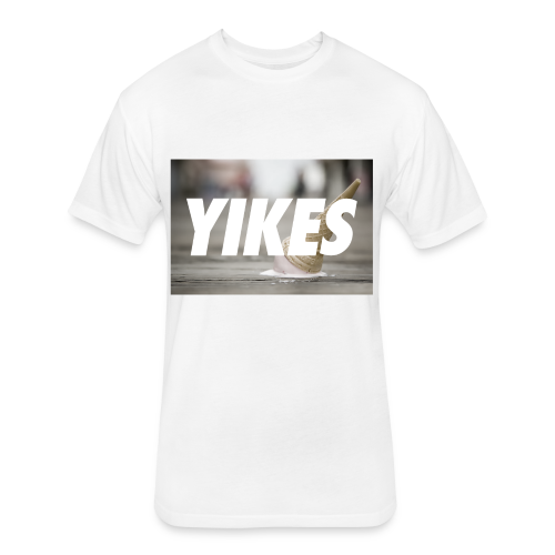 YIKES (made this for a friend who never bought it but hey it's pretty dope.) - Fitted Cotton/Poly T-Shirt by Next Level
