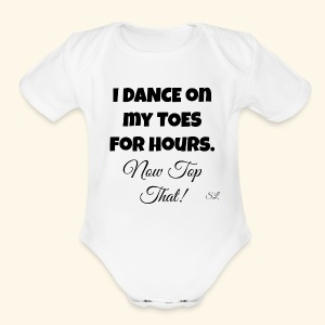 Pointe Ballet Dance T-shirt by Stephanie Lahart  - Short Sleeve Baby Bodysuit