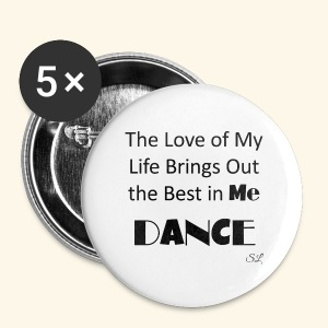 Love of My Life Dance T-shirt by Stephanie Lahart - Small Buttons