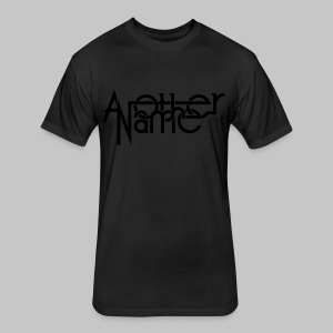 Men black logo - Fitted Cotton/Poly T-Shirt by Next Level