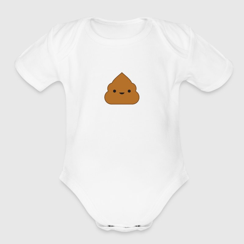 Kawaii Poop Baby One Piece - Short Sleeve Baby Bodysuit