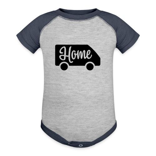 Home in a van - Contrast Baby Bodysuit