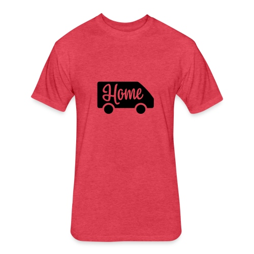 Home in a van - Fitted Cotton/Poly T-Shirt by Next Level