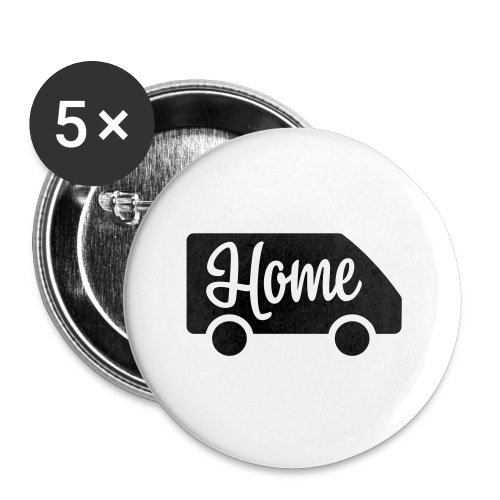 Home in a van - Buttons large 2.2'' (5-pack)