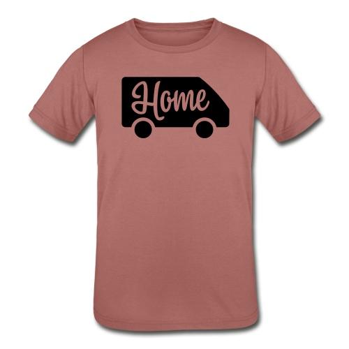 Home in a van - Kids' Tri-Blend T-Shirt