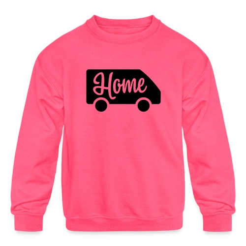 Home in a van - Kids' Crewneck Sweatshirt