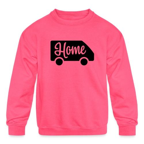 Home in a van - Kids' Crewneck Sweatshirt