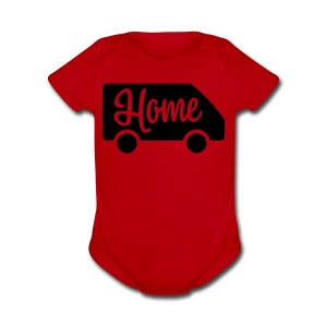 Home in a van - Short Sleeve Baby Bodysuit
