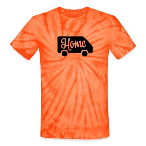 Home in a van - Unisex Tie Dye T-Shirt