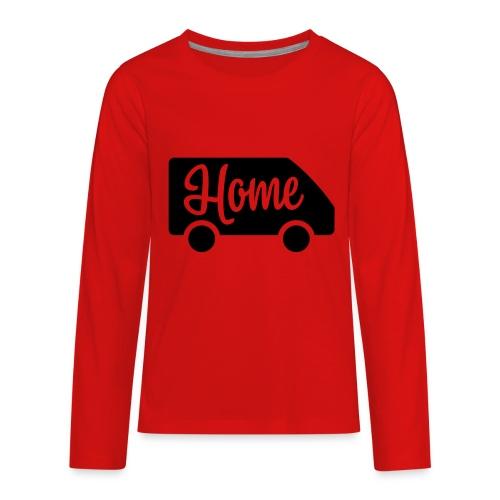 Home in a van - Kids' Premium Long Sleeve T-Shirt