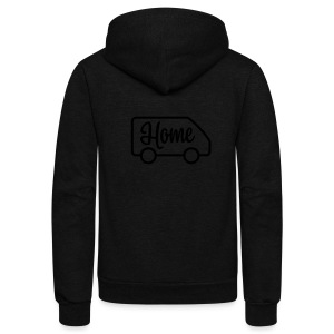 Home in a van - Unisex Fleece Zip Hoodie by American Apparel