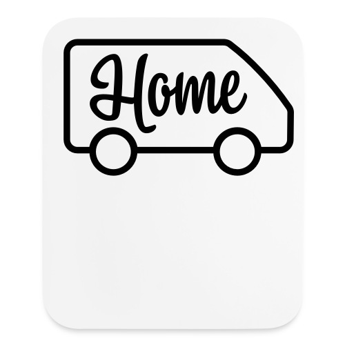Home in a van - Mouse pad Vertical