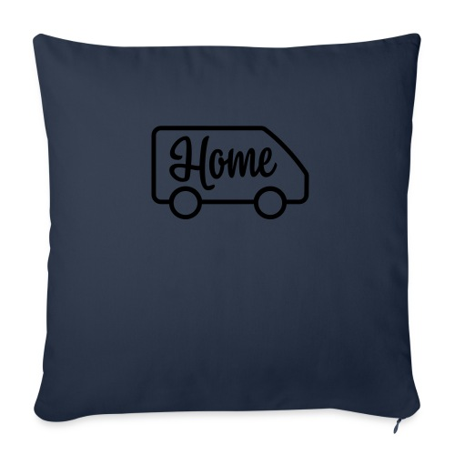 "Home in a van - Throw Pillow Cover 18"" x 18"""