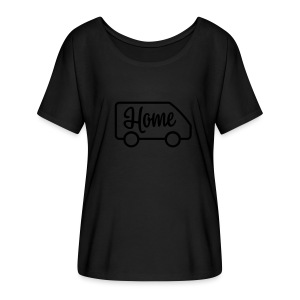 Home in a van - Women's Flowy T-Shirt