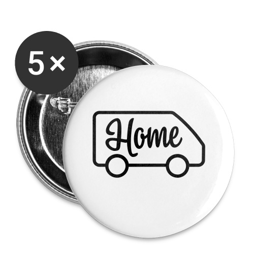 Home in a van - Buttons small 1'' (5-pack)