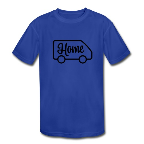 Home in a van - Kid's Moisture Wicking Performance T-Shirt