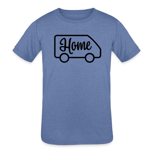 Home in a van - Kids' Tri-Blend T-Shirt