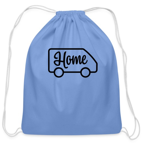 Home in a van - Cotton Drawstring Bag