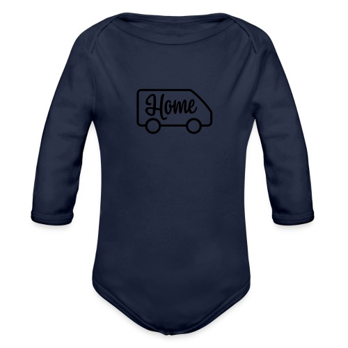 Home in a van - Organic Long Sleeve Baby Bodysuit
