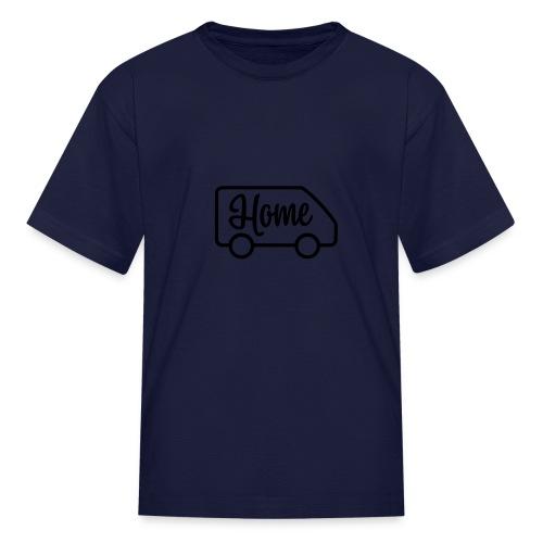 Home in a van - Kids' T-Shirt