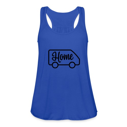 Home in a van - Women's Flowy Tank Top by Bella