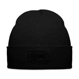 Home in a van - Knit Cap with Cuff Print