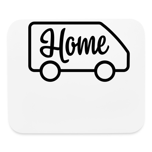 Home in a van - Mouse pad Horizontal