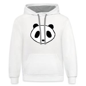 Panda Face Logo - Women - Contrast Hoodie