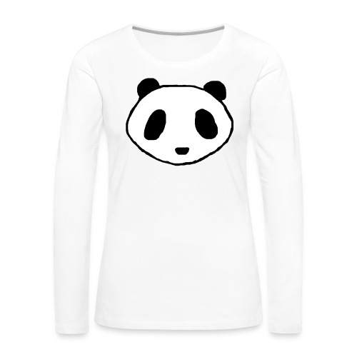 Panda Face Logo - Women - Women's Premium Long Sleeve T-Shirt