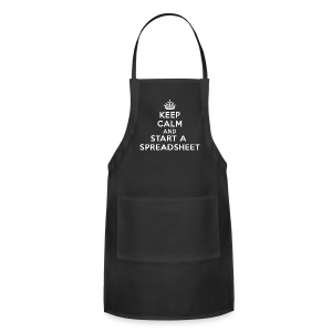 Keep calm and start a spreadsheet white - Adjustable Apron