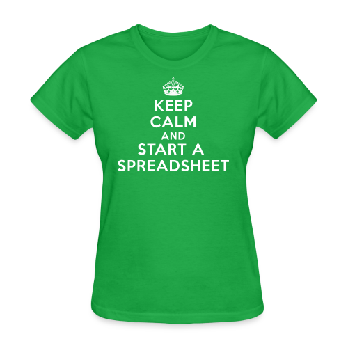 Keep calm and start a spreadsheet white - Women's T-Shirt