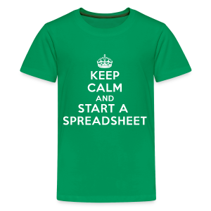 Keep calm and start a spreadsheet white - Kids' Premium T-Shirt