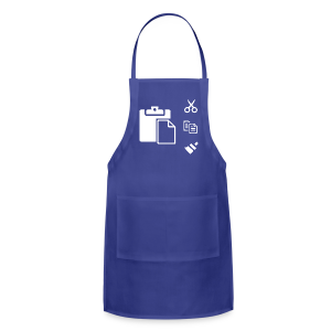 Copy & Paste in Excel white - Adjustable Apron