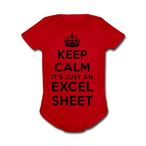 Keep calm it's just an Excel sheet black - Short Sleeve Baby Bodysuit