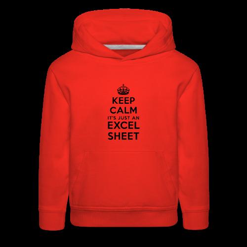 Keep calm it's just an Excel sheet black - Kids' Premium Hoodie