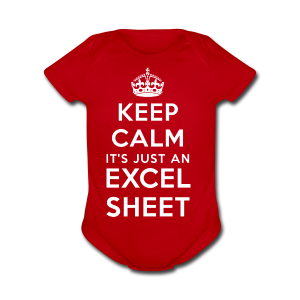 Keep calm it's just an Excel sheet white - Short Sleeve Baby Bodysuit