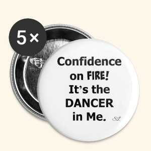 Confident Dancer T-shirt by Stephanie Lahart - Small Buttons
