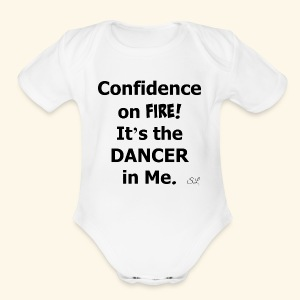 Confident Dancer T-shirt by Stephanie Lahart - Short Sleeve Baby Bodysuit