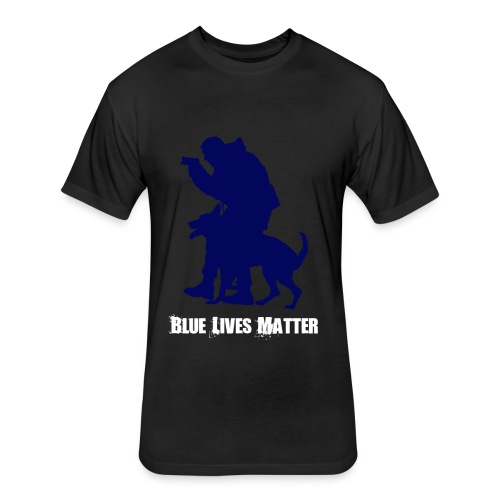 Blue Lives Matter K9 - Men's T-Shirt - Police - Fitted Cotton/Poly T-Shirt by Next Level