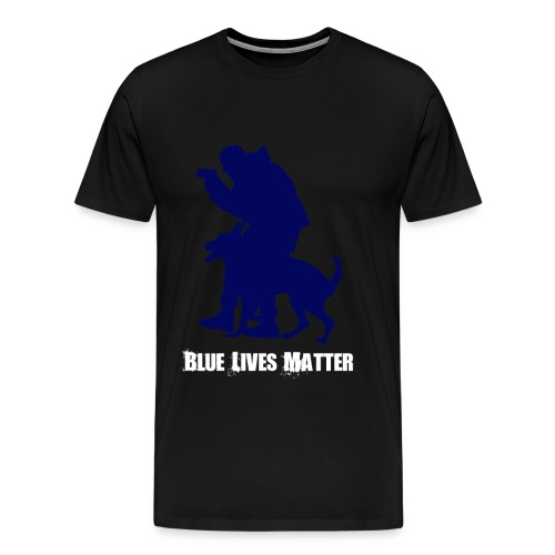 Blue Lives Matter K9 - Men's T-Shirt - Police - Men's Premium T-Shirt
