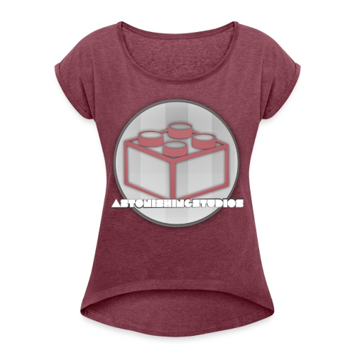 AstonishingStudios Tee - Women's Roll Cuff T-Shirt