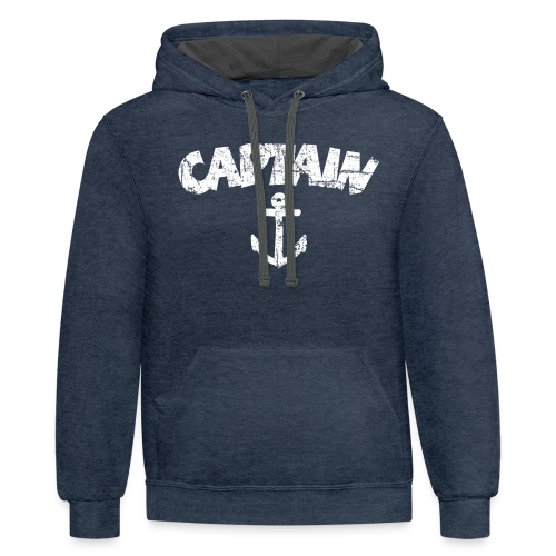 Captain Anchor S-5X T-Shirt (Vintage/White) - Contrast Hoodie