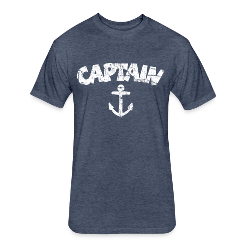 Captain Anchor S-5X T-Shirt (Vintage/White) - Fitted Cotton/Poly T-Shirt by Next Level