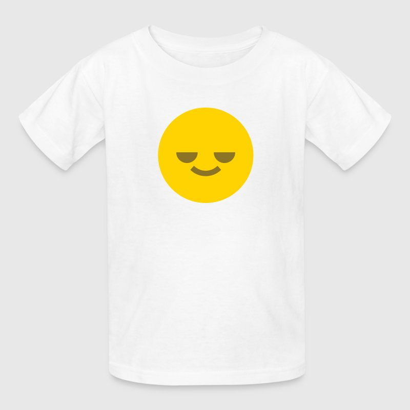 Relaxed Emoticon Circle Face Smiley Kids' Shirts - Kids' T-Shirt