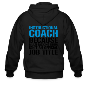 Instructional Coach... Ninja Isn't an Official Job Title | White + Metallic Silver - Men's Zip Hoodie
